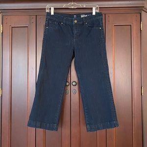 🤍Low-rise Wide Leg Crop Jeans